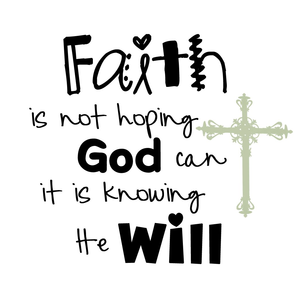 "Faith : ""The just shall live by faith,"""